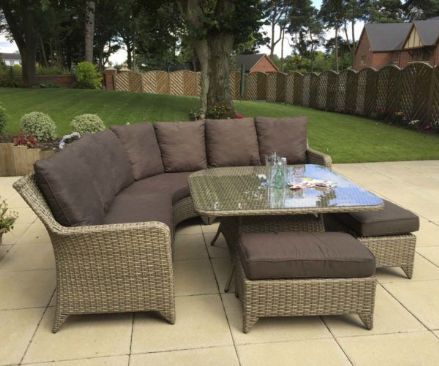Sarah Corner Dining Sofa In Nature Colour